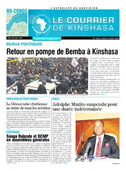 Les Dépêches de Brazzaville : Édition brazzaville du 02 août 2018