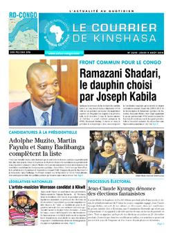Les Dépêches de Brazzaville : Édition brazzaville du 09 août 2018