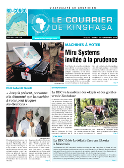 Les Dépêches de Brazzaville : Édition brazzaville du 11 septembre 2018