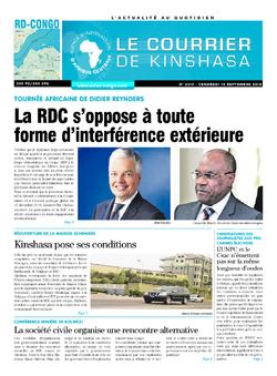 Les Dépêches de Brazzaville : Édition brazzaville du 14 septembre 2018