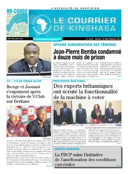 Les Dépêches de Brazzaville : Édition brazzaville du 18 septembre 2018