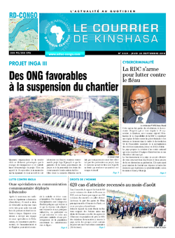 Les Dépêches de Brazzaville : Édition brazzaville du 20 septembre 2018
