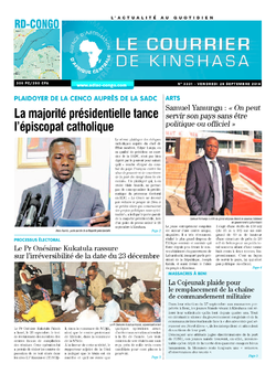 Les Dépêches de Brazzaville : Édition brazzaville du 28 septembre 2018
