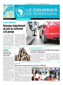 Les Dépêches de Brazzaville : Édition brazzaville du 02 octobre 2018