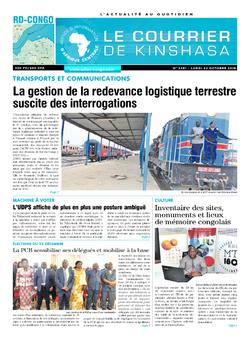 Les Dépêches de Brazzaville : Édition brazzaville du 22 octobre 2018