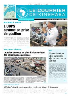 Les Dépêches de Brazzaville : Édition brazzaville du 24 octobre 2018
