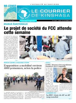 Les Dépêches de Brazzaville : Édition brazzaville du 29 octobre 2018
