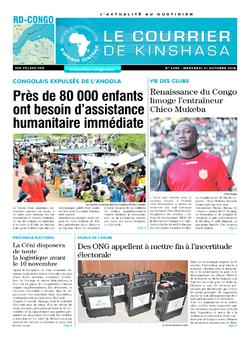 Les Dépêches de Brazzaville : Édition brazzaville du 31 octobre 2018