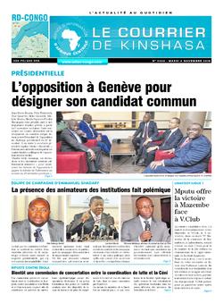 Les Dépêches de Brazzaville : Édition brazzaville du 06 novembre 2018