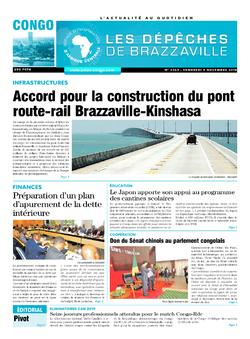 Les Dépêches de Brazzaville : Édition brazzaville du 09 novembre 2018