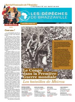 Les Dépêches de Brazzaville : Édition brazzaville du 11 novembre 2018