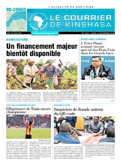 Les Dépêches de Brazzaville : Édition brazzaville du 12 novembre 2018