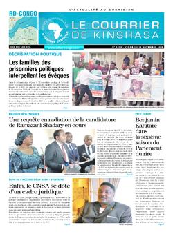 Les Dépêches de Brazzaville : Édition brazzaville du 16 novembre 2018