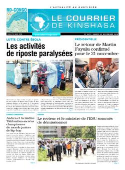 Les Dépêches de Brazzaville : Édition brazzaville du 20 novembre 2018