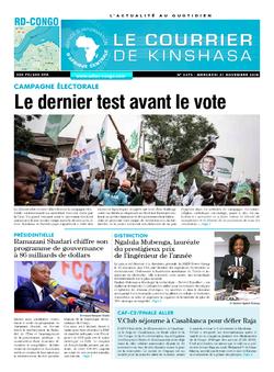 Les Dépêches de Brazzaville : Édition brazzaville du 21 novembre 2018