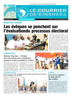 Les Dépêches de Brazzaville : Édition brazzaville du 22 novembre 2018