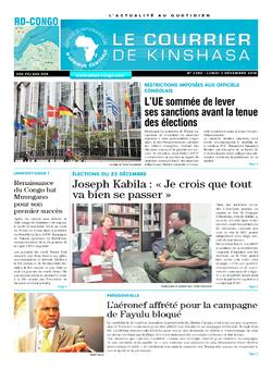 Les Dépêches de Brazzaville : Édition brazzaville du 03 décembre 2018