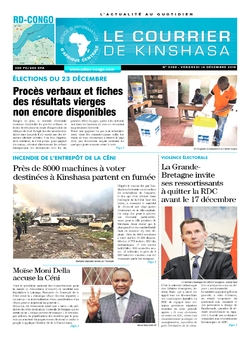 Les Dépêches de Brazzaville : Édition brazzaville du 14 décembre 2018