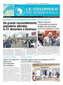 Les Dépêches de Brazzaville : Édition brazzaville du 18 décembre 2018