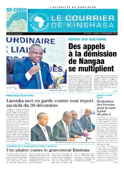 Les Dépêches de Brazzaville : Édition brazzaville du 24 décembre 2018