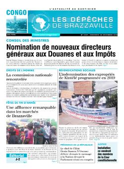 Les Dépêches de Brazzaville : Édition brazzaville du 28 décembre 2018