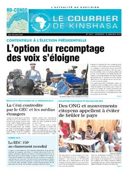 Les Dépêches de Brazzaville : Édition brazzaville du 18 janvier 2019