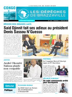 Les Dépêches de Brazzaville : Édition brazzaville du 01 février 2019
