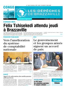 Les Dépêches de Brazzaville : Édition brazzaville du 06 février 2019