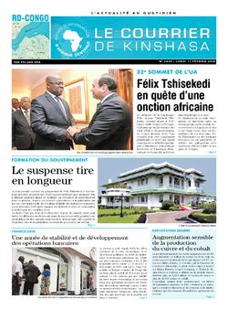 Les Dépêches de Brazzaville : Édition brazzaville du 11 février 2019