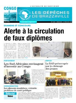 Les Dépêches de Brazzaville : Édition brazzaville du 13 février 2019
