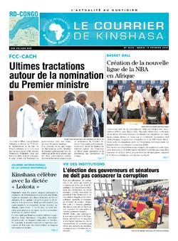 Les Dépêches de Brazzaville : Édition brazzaville du 19 février 2019