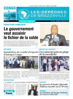 Les Dépêches de Brazzaville : Édition brazzaville du 26 février 2019