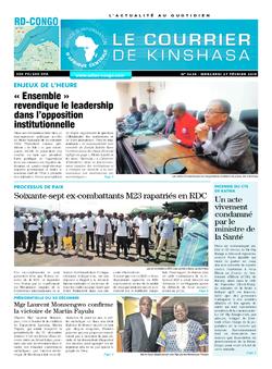 Les Dépêches de Brazzaville : Édition brazzaville du 27 février 2019