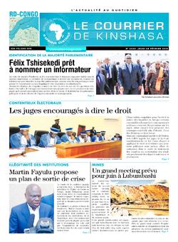 Les Dépêches de Brazzaville : Édition brazzaville du 28 février 2019
