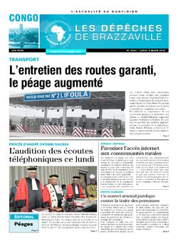 Les Dépêches de Brazzaville : Édition brazzaville du 04 mars 2019
