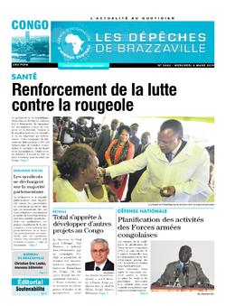 Les Dépêches de Brazzaville : Édition brazzaville du 06 mars 2019