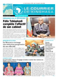 Les Dépêches de Brazzaville : Édition brazzaville du 11 mars 2019