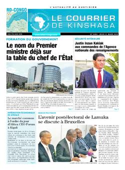 Les Dépêches de Brazzaville : Édition brazzaville du 22 mars 2019