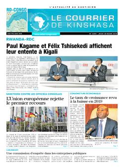 Les Dépêches de Brazzaville : Édition brazzaville du 28 mars 2019