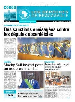 Les Dépêches de Brazzaville : Édition brazzaville du 03 avril 2019
