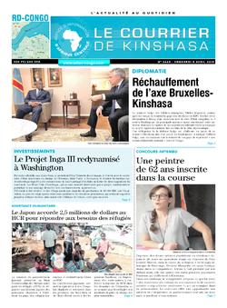 Les Dépêches de Brazzaville : Édition brazzaville du 05 avril 2019
