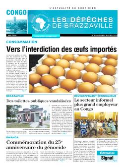 Les Dépêches de Brazzaville : Édition brazzaville du 08 avril 2019