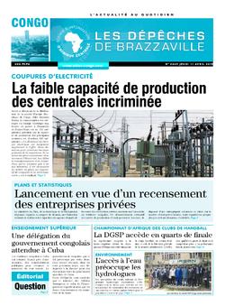 Les Dépêches de Brazzaville : Édition brazzaville du 11 avril 2019