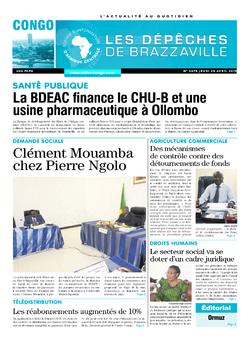 Les Dépêches de Brazzaville : Édition brazzaville du 25 avril 2019