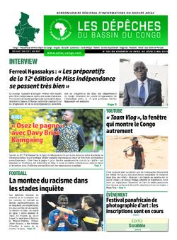 Les Dépêches de Brazzaville : Édition du 6e jour du 27 avril 2019