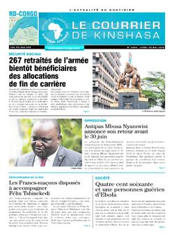 Les Dépêches de Brazzaville : Édition brazzaville du 20 mai 2019