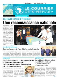 Les Dépêches de Brazzaville : Édition brazzaville du 03 juin 2019