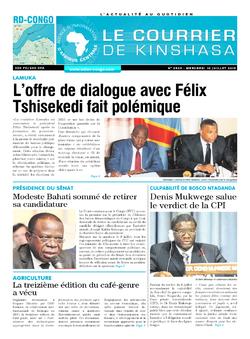 Les Dépêches de Brazzaville : Édition brazzaville du 10 juillet 2019