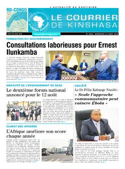 Les Dépêches de Brazzaville : Édition brazzaville du 07 août 2019