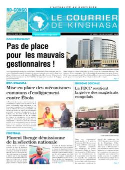 Les Dépêches de Brazzaville : Édition brazzaville du 08 août 2019